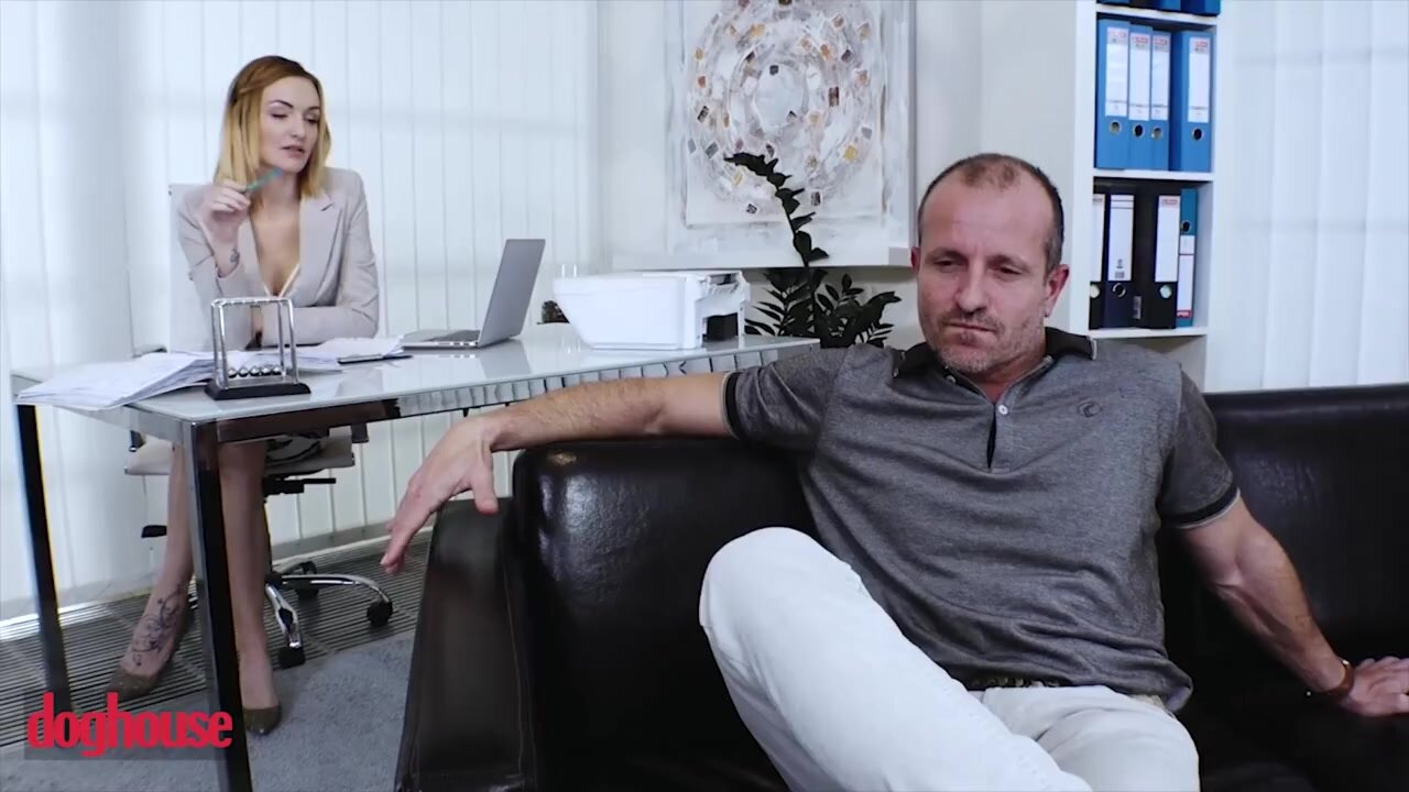 Young therapist offers the man sex and he can
